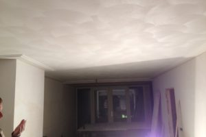 Schuurwerk plafond met dubbele platte plint (Large)